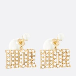 Dior Tribales Earrings Gold-Finish Metal and White Resin Pearls | DIOR | Christian Dior (US)