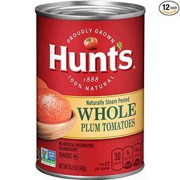 Hunt's Whole Peeled Plum Tomatoes, 14.5 oz, 12 Pack | Amazon (US)
