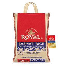 Authentic Royal Royal Basmati Rice, 15-Pound Bag, White | Amazon (US)