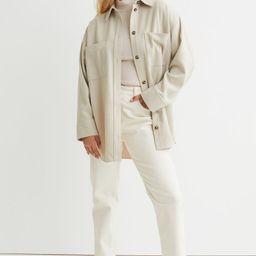 Twill Shirt Jacket   H&M (US)