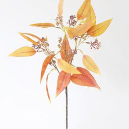 """Fake Fall Terracotta Seeded Eucalyptus Leaves - 23"""" 