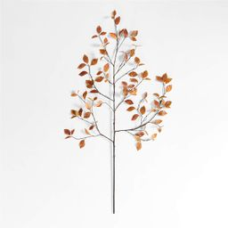 """Faux Golden Yellow Leaf Branch 66"""" + Reviews 
