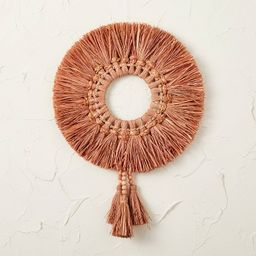 """20"""" Raffia Wreath Pink - Opalhouse™ designed with Jungalow™ 