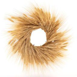 "Dried Wheat Wreath, 18"" | Pottery Barn (US)"