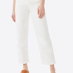 Free Assembly Women's Cropped Wide Straight Jeans - Walmart.com   Walmart (US)