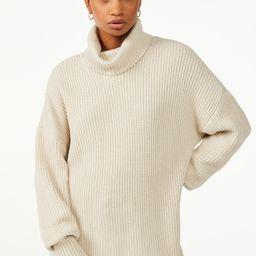 Free Assembly Women's Turtleneck Tunic Sweater - Walmart.com   Walmart (US)