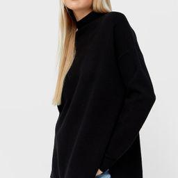 Oversize cut-out sweater - Women's Knitwear | Stradivarius United Kingdom | Stradivarius (UK)