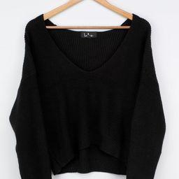 Feel it Still Black Knit Sweater | Lulus (US)