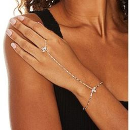 Lili Claspe Flora Hand Chain in Yellow Gold from Revolve.com | Revolve Clothing (Global)