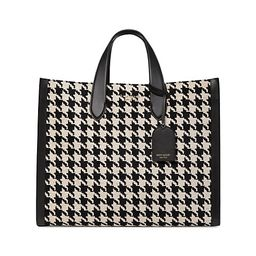 Large Manhattan Houndstooth Tote   Saks Fifth Avenue