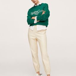 Message cotton sweatshirt | MANGO (UK)