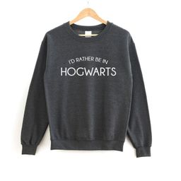I'd Rather Be In Hogwarts Sweatshirt  Harry Potter  | Etsy | Etsy (US)