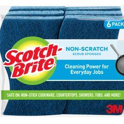 Scotch-Brite Non-Scratch Scrub Sponges, 6 Sponges - Walmart.com | Walmart (US)