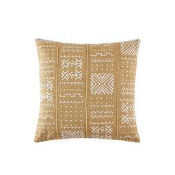 "Kila Decorative Throw Pillow, Square, 18"" x 18"", Mustard, 1 Piece - Walmart.com | Walmart (US)"