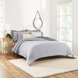 Gap Home T-Shirt Soft Jersey Reversible Organic Cotton Blend Comforter Set, Full/Queen, Grey, 3-P... | Walmart (US)