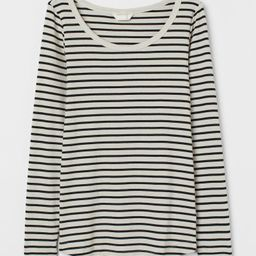 MAMA Long-sleeved Cotton Top   H&M (US)