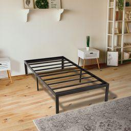 "KingSo 14"" Tall Twin Bed Frame Black 1500H Steel Platform Metal Bed Frame with Storage, Heavy Dut... | Walmart (US)"