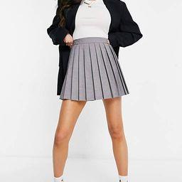 ASOS DESIGN pleated tennis skirt in light grey | ASOS (Global)