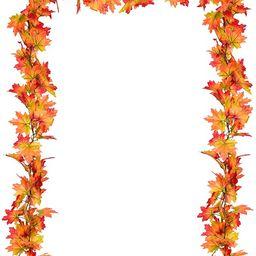2 Pack Fall Garland Maple Leaf, Hanging Vine Garland Artificial Autumn Foliage Garland Thanksgivi... | Amazon (US)