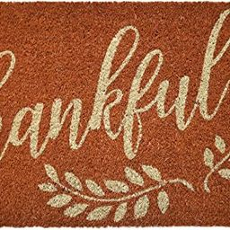Avera Products | Thankful Branches, Natural Coir Fiber Doormat, Anti-Slip PVC Mat Back | Amazon (US)
