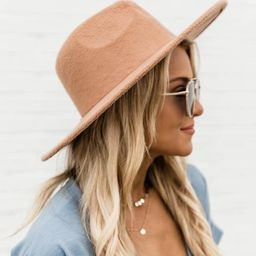 For Next Time Camel Wide Brim Fedora Hat   The Pink Lily Boutique