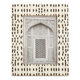 Black And White Abstract Dots Bone Frame   World Market