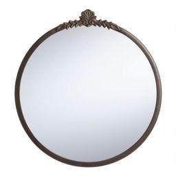 Round Metal Vintage Style Mirror   World Market