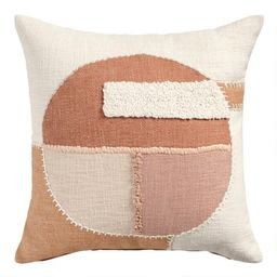 Rust and Blush Geo Circle Throw Pillow | World Market