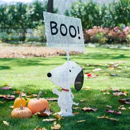 Peanuts™ Lit Snoopy™ With Boo Sign   Pottery Barn (US)