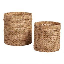 Natural Hyacinth Keely Tote Basket | World Market