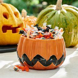 Peanuts™ Pumpkin Shaped Stoneware Serving Bowl   Pottery Barn (US)