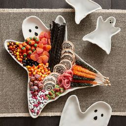 Ghost Shaped Stoneware Serving Platter   Pottery Barn (US)