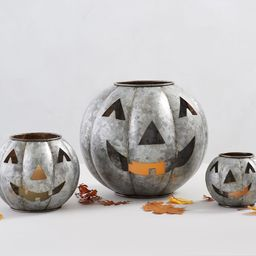 Metal Jack-O-Lanterns - Galvanized   Pottery Barn (US)