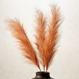 Faux Amber Pampas Grass Stem Set of 3 | CB2 | CB2