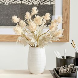 Dried Thistle Arrangement in Ceramic Vase | Pottery Barn (US)