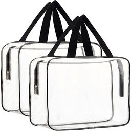 2 Pieces Large Clear Makeup Cosmetic Toiletry Organizer Bag, Clear Plastic Tote Bags, Waterproof ...   Amazon (US)