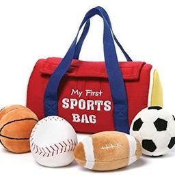 "GUND Baby My First Sports Bag Stuffed Plush Playset, 5 Piece, 8"" | Amazon (US)"