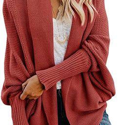 Mafulus Womens Cardigan Sweaters Oversized Open Front Batwing Chunky Knit Outwear | Amazon (US)