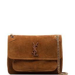 medium Niki suede shoulder bag | Farfetch (US)