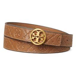 Logo Monogram Embossed Leather Belt | Nordstrom