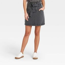 Women's High-Rise Tie-Waist Denim Mini Skirt - Universal Thread™ | Target