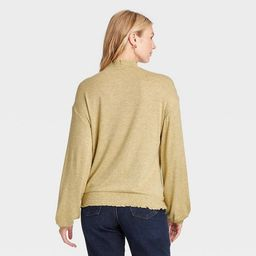 Women's Long Sleeve High Neck Smocked T-Shirt - A New Day™ | Target