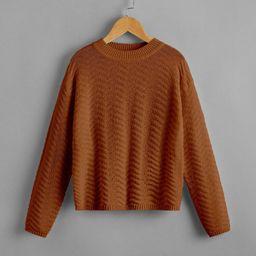 Girls Solid Drop Shoulder Sweater | SHEIN