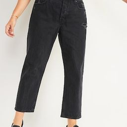 High-Waisted Slouchy Straight Cropped Distressed Jeans for Women   Old Navy (US)