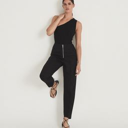 Reiss Kali Flat - Leather Strappy Wrap Sandals in Black, Womens, Size 7 | Reiss (Global - Non UK)