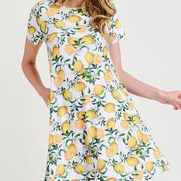 SBS Fashion Women's Casual Dresses White - White Lemon A-Line Dress - Women | Zulily