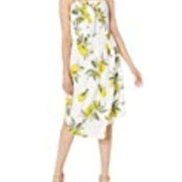 MOON RIVER Women's Lemon Print Midi Dress, Yellow/Multi, X-Small | Amazon (US)