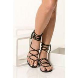 Vegan Sandals Women, Pvc Sandals, Black Flat Summer Shoes, Gladiator Chrystal | Etsy (US)