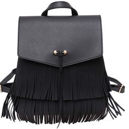 Ayliss Women Fringed Backpack Tassel Messenger Shoulder Bag Crossbody Tote Purse Hobo Handbag PU ... | Amazon (US)