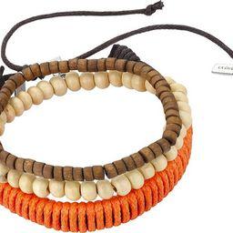 Wood Barrel Bead, Orange Cord, & White Stone Bracelet - Set of 3LA ROCKS | Nordstrom Rack